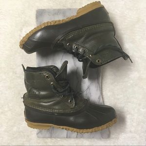 Sorel Leather Green Out N About Ankle Boots Sz 7